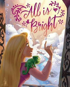 I wonder what Rapunzel thought of snow while she was in the tower....