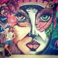 Comuna 13 and the graffitis. #graffiti #comuna13 #colombia #medellin #women