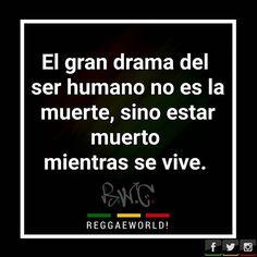 El gran drama del ser humano no es la muerte, sino estar muerto mientras se vive.