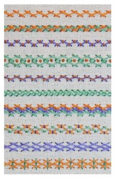 Variaciones de caballito / Herringbone stitch variations #embroidery #stitches #herringbone