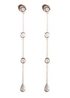 18K Rose gold diamond drops. 18k Rose Gold, Diamond, My Style, Jewelry, Jewlery, Jewerly, Schmuck, Diamonds, Jewels