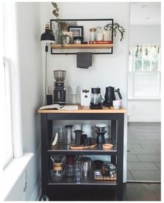 Coffee Bars In Kitchen, Coffee Bar Home, Coffee Bar Ideas, Coffee Counter, Coffee Bar Station, Home Coffee Stations, Coffee Bar Design, Coffee Nook, Coffee Area