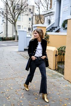 How To Rock Metallic Ankle Boots