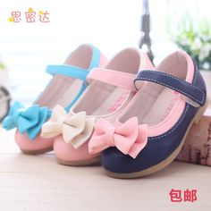Baby girl genuine leather shoes with bow $11.21 from Aliexpress