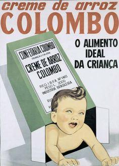 cartaz Creme de Arroz Colombo