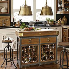This is truly the kitchen island of our dreams.