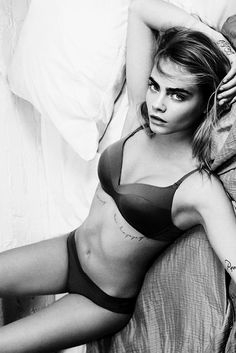 Cara Delevingne by Gregory Harris for DKNY Intimates & Sleepwear Spring/Summer 2015
