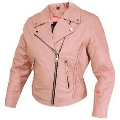 A Pink Leather Moto Jacket