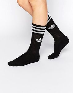 adidas Originals Solid Black Crew Socks at asos.com 71c0a9cfa3d2e