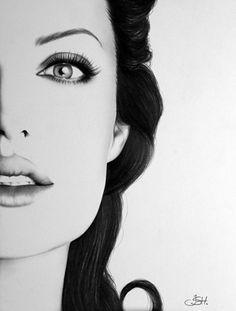 #angelina #jolie #art #drawing