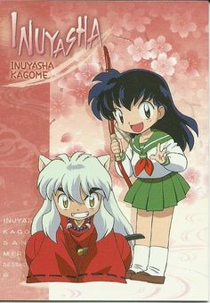 Chibi Inuyasha and Kagome