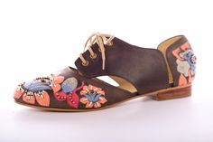 Gitta Oxford with embroidered leather Clogs, Oxford, Leather, Fashion, Moda, La Mode, Fasion, Fashion Models, Trendy Fashion