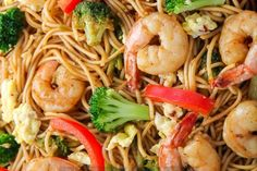 Lo Mein...Crevettes et brocoli en seulement 20 minutes