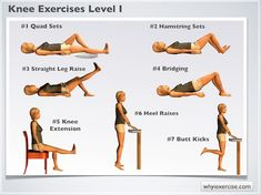 Knee exercises: Illustrated therapeutic strengthening exercises - Fitness For You Pilates, Knee Strengthening Exercises, Knee Physical Therapy Exercises, Knee Arthritis Exercises, Knock Knees Exercises, Quad Exercises, Aerobic Exercises, Fitness Exercises, Workout Fitness