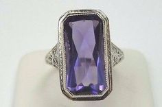 A personal favorite from my Etsy shop https://www.etsy.com/listing/495065733/antique-vintage-deco-amethyst-white-gold