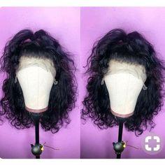 short curly lace front wig human hair - April 14 2019 at