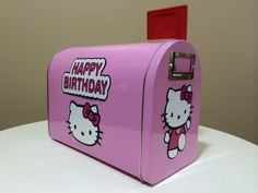 Personalized Hello Kitty Card Box by LoveEmilee