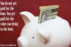 You do not get paid for the hour. You get paid for the value you bring to the hour. #easygoals   http://easygoals