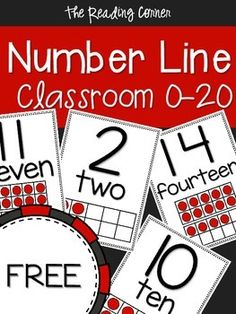 This number line showcases the numbers Each number is on its own x 11 page. It is written with a simple font and the pictures are nice and clear. Each page shows the numbers in number form, word form and with ten frames. Renee The Reading Corner Math Charts, Teaching Resources, Teaching Ideas, Ten Frames, Back To School, School Stuff, Number Sense, Kindergarten Math, Mathematics