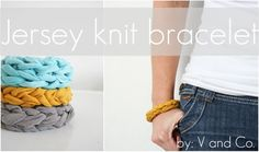 V and Co.: V and Co video how to: jersey fabric bracelet