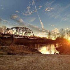 Mississippi Delta: Tallahatchie River sunset -- Strider, Mississippi