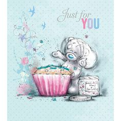 Just for You Tatty Teddy with Cupcake Me to You Bear Card (A91US001) : Me to You Bears Online - The Tatty Teddy Superstore.