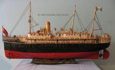 """Marklin great tin boat ocean liner 29"""" long"""