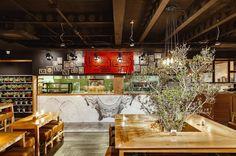 Cucina Restaurant, Interior & Product Design Project by Whiterhinodg, Tehran_ Iran 2016 🍛🍜🍴🍸🍹   Photographers: Arya Tabi & Meem Moradi    #MemareMan #Architecture #Architect #Design #Designer #Interior_Design #Decoration #Color #Wood #Lighting #Furniture #Iran #Iranian_Architect #معمارمن #ایران #طراحان_ایرانی