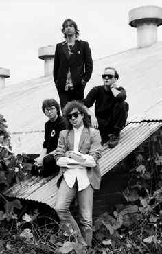 Bill Berry, Mike Mills, Michael Stipe, and Peter Buck of R.E.M.