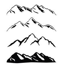 vector mountian silhouette - Google Search