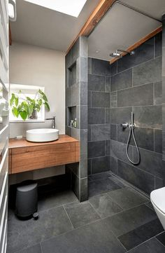 Bathroom decor for your bathroom remodel. Discover bathroom organization, bathroom decor ideas, master bathroom tile some ideas, bathroom paint colors, and more. Wood Bathroom, Bathroom Layout, Budget Bathroom, Bathroom Plumbing, Basement Bathroom, Bathroom Cabinets, Bathroom Black, Bathroom Mirrors, Remodel Bathroom