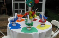 Art Party:  Super cute ideas for an art-themed party.  Love!