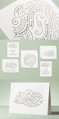 Set the tone for your upcoming wedding day with the perfect letterpress wedding invitation suite from Minted. Shop Linea Letterpress Wedding Invitations by Lori Wemple at minted.com