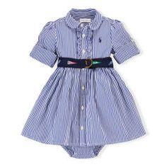 Striped Shirtdress & Bloomer - Baby Girl Dresses & Skirts - RalphLauren.com
