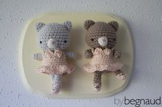 Cute little hand crocheted ballerina bears with tutus and ballet shoes. Made by Begnaud, find more here: www.bybegnaud.weebly.com
