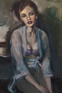 "Saatchi Art Artist Hiromi Andrew; Painting, ""The Blue Nightgown"" #art"