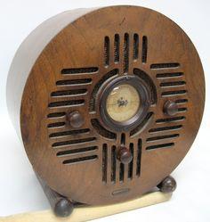Detrola Wood Round Bluebird 1936 105 5WG Radio | eBay
