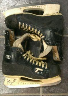 NJ Devils Bobby Carpenter Game Used Hockey Skates Autographed