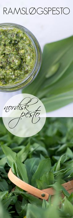 SPRING Spring picture with a recipe for wild garlic pesto Great Recipes, Dinner Recipes, Healthy Recipes, Wild Garlic Pesto, Pesto Dip, Danish Food, Food Cravings, Eat Cake, Tapas