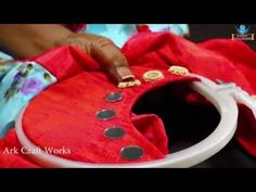 Creative Mirrors Stitching Hand Works On Neck Churidar For Beginners   Hand Embroidery Designs - YouTube