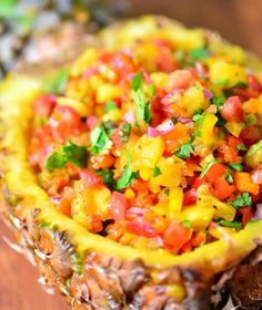 Mexican Pineapple Lime Salsa Recipe  More healthy recipes from around the world at www.1mrecipes.com