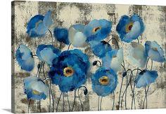 Aquamarine Floral Item #1050912 By: Silvia Vassileva  @ GreatBigCanvas