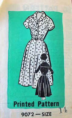 Vintage Sewing Pattern - 1960s Dress Pattern - 9072
