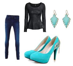 Simple pop of color by elenore64 on Polyvore featuring polyvore, fashion, style, H&M and Sam Edelman