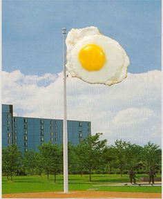Egg Flagpole by Aaron Carpenter