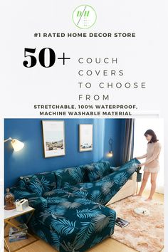 #1 rated couch slipcovers with stretchable waterproof pet friendly material. Over 50+ designs to choose from that fits all couch types.
