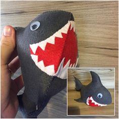 Tubarão de feltro 3D