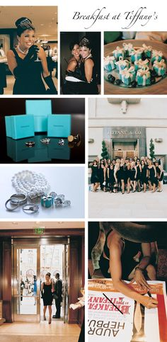 Breakfast at Tiffany's themed bridal shower  |  Photograph by: Yvette Roman Photography