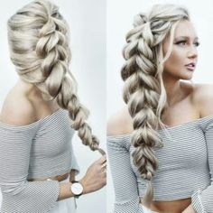 30 Amazing Braided Hairstyles for Medium & Long Hair – Delightful Braids Amazing pull through braid! Want to create this hairstyle? Add more volume using natural hair extensions www. Unique Hairstyles, Pretty Hairstyles, Braided Hairstyles, Wedding Hairstyles, Hairstyle Ideas, Beach Hairstyles, Hair Extension Hairstyles, Fantasy Hairstyles, Step Hairstyle