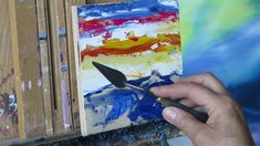 Quick Expressive palette knife painting tutorial
